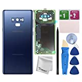 Vimour Back Cover Glass Replacement for Samsung Galaxy Note 9 N960U All Carriers with Pre-Installed Camera Lens, All The Adhesive and Professional Repair Tool Kits (Coral Blue)