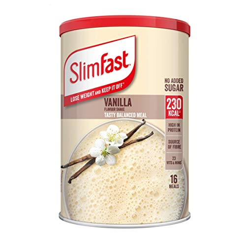 SlimFast High Protein Meal Replacement Powder Shake, Simply Vanilla, 584g