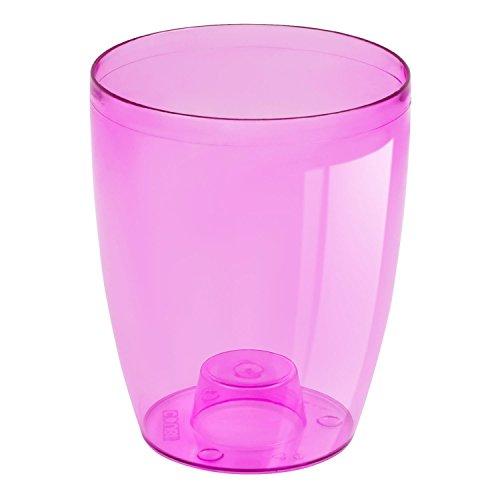 Prosper Plast Duow130p-cpr9 13.2 x 16 cm Lotex24 Coubi Pot à Fleurs Rose Transparente