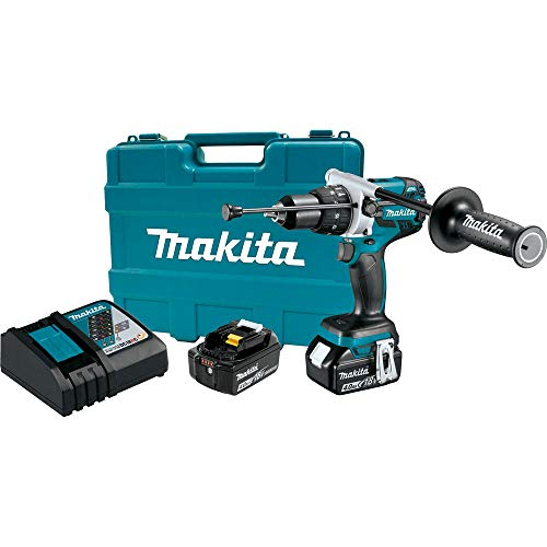 Makita XPH07MB-R 18V LXT Lithium-Ion Brushless 1/2 in. Cordless Hammer Drill Driver Kit (4 Ah) (Renewed)
