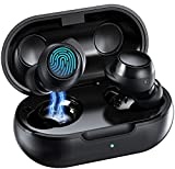 Cuffie Bluetooth 5.1,Soicear Auricolari Senza Fili Sport,In-Ear Wireless Earbuds Touch Control,IPX7 Impermeabili,Bassi Profondi,Stereo HiFi,Micofono Integrato,Durata 24 Ore,Ricarica Rapida USB-C(Nero)