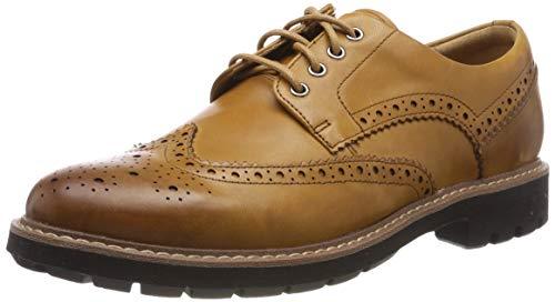 Clarks Herren Batcombe Wing Derbys, Braun (Tan Leather), 41 EU