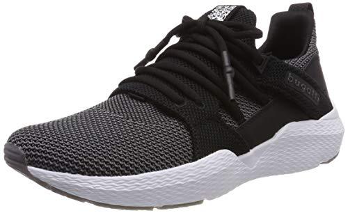 bugatti Herren 341730626900 Slip On Sneaker, Schwarz, 45 EU