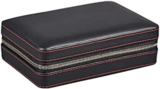 HNaGRDMMP Cigar Accessories Cigar Box Smoking Cigar Box Special Black PU Leather Moisturizing Cigar Box Cigar Box