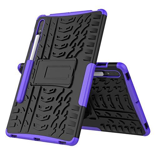 HHF Pad Accesorios para la lengüeta S7, TPU + PC Soporte híbrido Cubierta de la Tableta de la Armadura del para la lengüeta S7 11 Pulgadas SM-T870 SM-T875 2020 (Color : Purple)