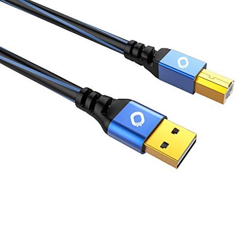 Oehlbach USB Plus B - USB - Druckerkabel Typ A zu Typ B - PVC-Mantel - OFC, blau/schwarz – 3m
