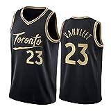 CLKJ 2021 Stagione # 23 Vanvleet Basket Maglie di baskey Rapace Gilet per Uomo, Moda Hip Hop Traspirante T-Shirt Comoda (S-2XL) Black-XXL