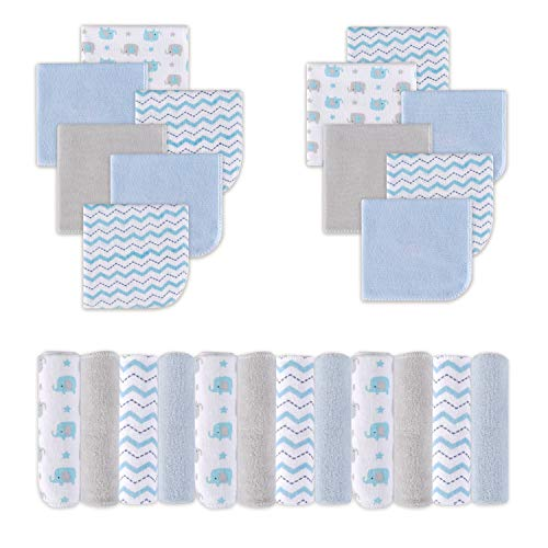 Paños para bebés, paños de baño absorbentes súper suaves para el rostro y el cuerpo, suaves para la piel sensible, el mejor registro de bebés y regalo de baby shower, paquete de 24
