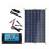 High song Paneles solares Kit De Panel Solar De 100w Completo 12V USB con Controlador De 10/20 / 30A Células Solares para Coche, Yate, RV, Barco, Cargador De Batería De Teléfono Móvil