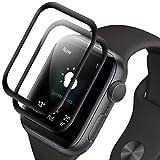 RIIMUHIR Cristal Templado para Apple Watch Series 1/2 /3 38mm,[2 Unidades] [3D Cobertura Completa] [Antiarañazos] [Sin Burbujas] [Dureza 9H] Protector Pantalla para iWatch Series 1/2 /3 38mm