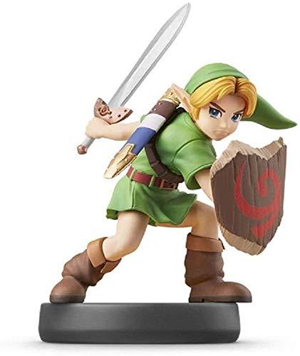 Ldwxxx Leyenda de Zelda Amiibo: Enlace Joven Figurita!Leyenda de Zelda Figura de acción del Juego Obra Maestra Figura Coleccionable de la respiración del Salvaje Japón Importar / 3DS / WiiU/Switch