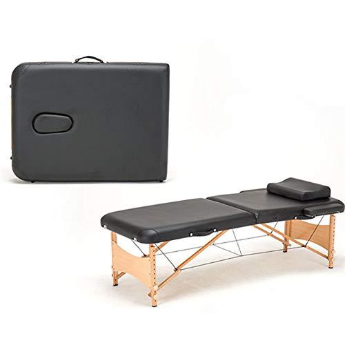 WANGXN Mesa De Masaje Plegable Aluminio portátil para el Cuerpo Relajante Mesa de Cama de Masaje de Madera Cuna Facial SPA Tatuaje Muebles de salón Plegables