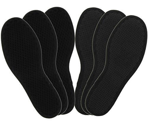 Bama Fresh Deo Active Kids, Einlegesohlen für Kinderschuhe, für hygienisch frische Füße im Dreierpack, Unisex, Schwarz, Größe: 30