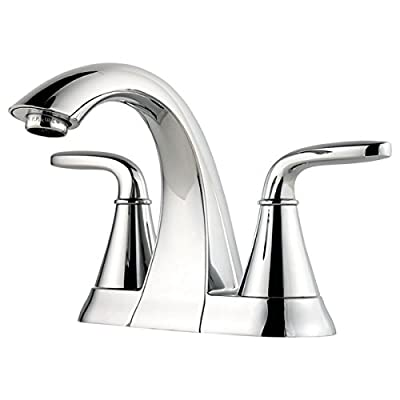 Pfister LF048PDCC Pasadena 2 Handle 4 Inch Centerset Bathroom Faucet in Polished Chrome