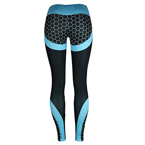 FLY FLU Pantalones De Yoga Mujer, Leggings con Estampado Digital para Mujeres Leggings con Estampado Digital En 3D De Cintura Alta para Mujer Pantalones De Yoga De Fitness,H-M