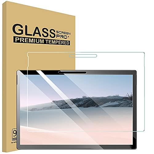 Surface Pro 7 Plus/Surface Pro 7/6/5/4 用 ガラスフィルム 強化 ガラス 液晶 保護 フィルム タブレット ガラスフィルム 貼り付け失敗無料交換 (2020/2019) 専用 保護フィルム 強化ガラス (1枚セット)【硬度9H/透過率99%/薄/気泡ゼロ/貼り付け簡単/割れない】