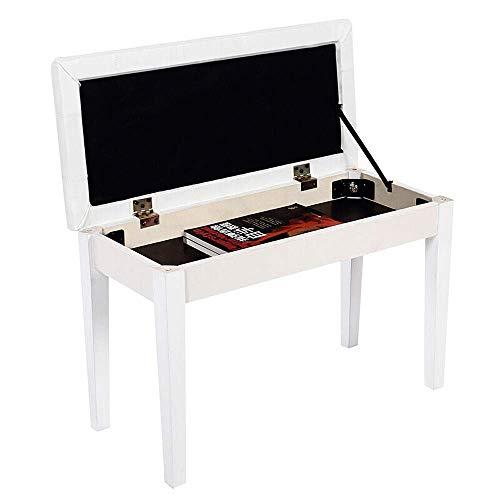 YWAWJ Klavierhocker Doppel Piano Hocker mit Bücherregal Doppel Leder Padded Thron Lagerung Hocker Straight Leg Piano Hocker Electric Piano Hocker