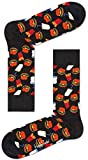 Happy Socks Unisex Hamburger Sock, Schwarz, 41-46