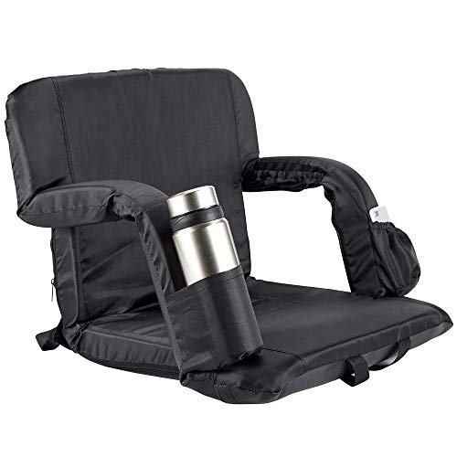 """Stadium Seat for Bleachers, Benches, Lawn and Beach Folding Chair Freely Adjust Seat Angle (32"""" 21"""")"""