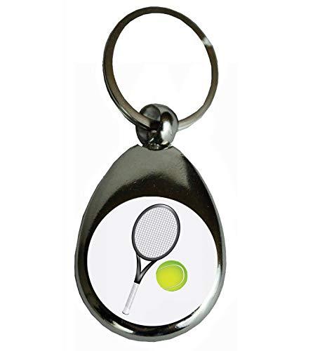 Schlüsselanhänger Tennis,Tennisball,TENNISSCHLÄGER, Hobby | Geschenk Glücksbringer Geburtstaggeschenk Metall (Tennis)
