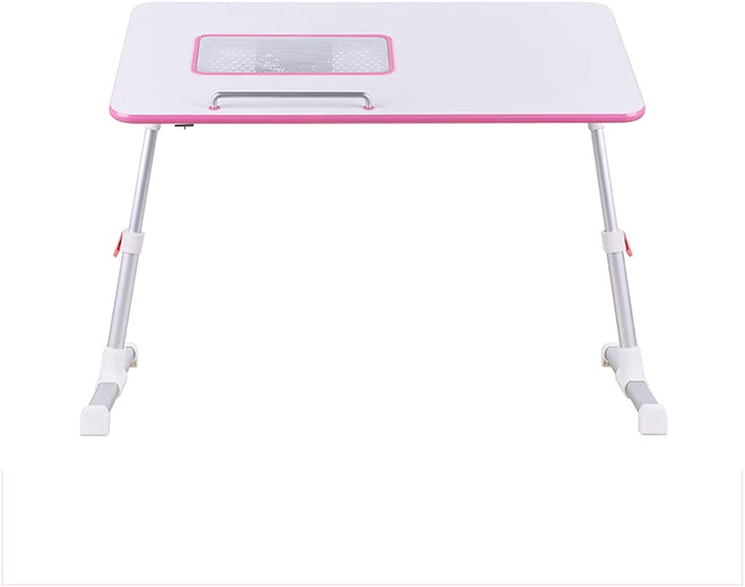 Table, Folding Table, Small Table, Multi-Function Notebook Study Table, Five-Speed Telescopic Cooling Fan Portable Table (color   D)