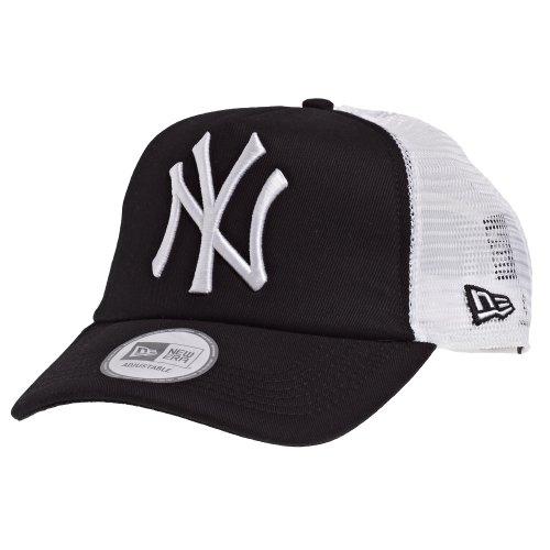 New Era Erwachsene Baseball Cap Mütze MLB Clean Trucker NY Yankees, Black-White, One size