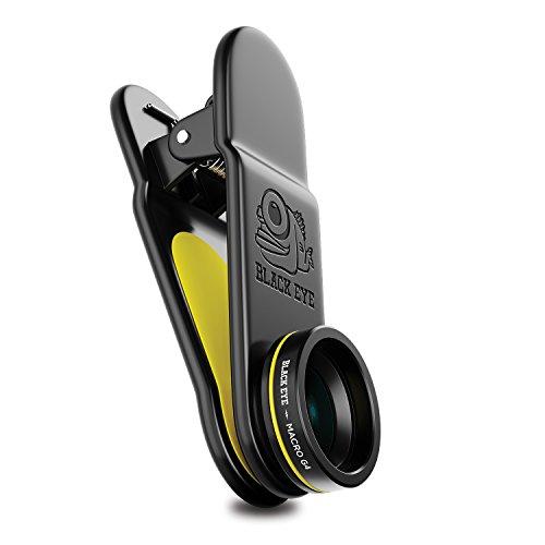 Preisvergleich Produktbild BLACK EYE Macro G4 15-faches Makro-Objektiv bei einem Abstand von 20-26mm,  optimiert für neuere Smartphones (Universelle Clip-Befestigung,  Doppelseitige Antireflex-Beschichtung,  Multicam kompatibel)