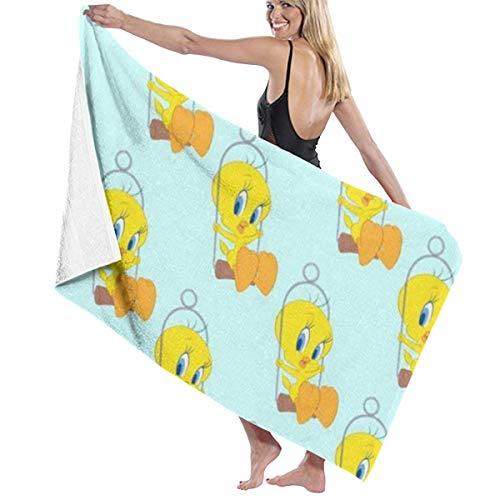 SanRe Tweety Badetücher/Badetücher mit Ente, schnell trocknend, sehr saugfähig, vielseitig einsetzbar, 78,7 x 137,1 cm, Gelb