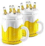 Top Race Enfriador Inflable de 18', Enfriador de Cerveza para Fiestas, Decoraciones para Fiestas de Verano, Jarra de Cerveza Inflable para Fiestas en la Piscina en la Playa (Paquete de 2)