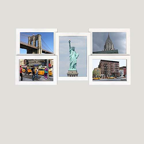 5 Collage Malaga Multi Shot Blanc Cadre Photo en PVC – Taille env. 47 x 23 cm