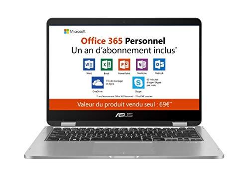 puissant Ordinateur portable Asus VivoBook FLIP TP401MAEC066TS avec écran tactile 14 pouces et résolution Full HD (Intel Pentium Silver N5000, 4 Go de RAM,…