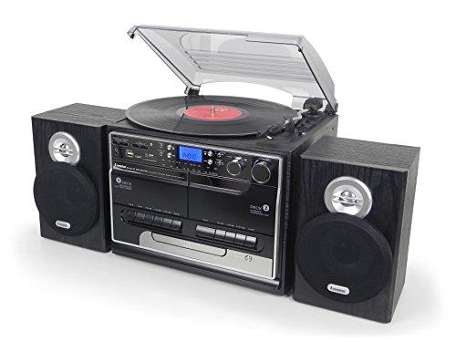Steepletone BT-SMC386r PRO, 8 in 1 Bluetooth Retro Nostalgic Music System...