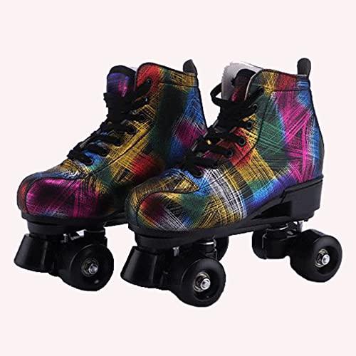 HLONGG Damen Roller Skates PU-Leder...