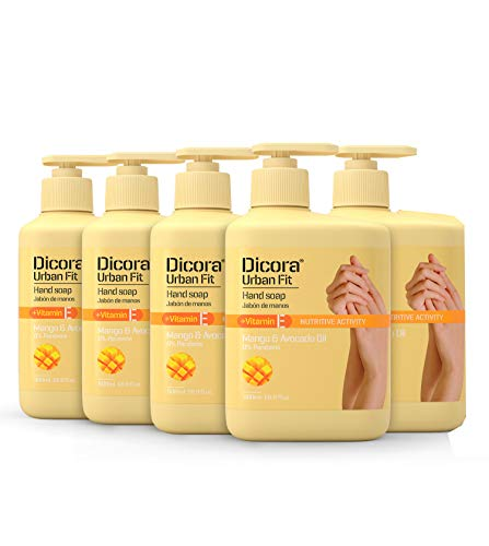 Dicora Urban Fit® Jabón de Manos Vitamina E 500 ml - Pack 5