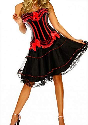 Forever Jonge Burlesque Moulin Rouge Lolita Fancy Jurk Kostuum Outfit Korset Jurk