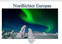 Nordlichter Europas (Wandkalender 2022 DIN A3 quer): Aurora Borealis in den noerdlichsten Gebieten von Europa (Monatskalender, 14 Seiten )