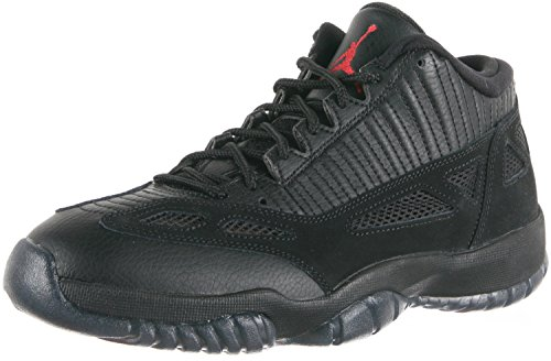 Nike Herren Air Jordan 11 Retro Low Basketballschuhe, Schwarz/Rot (Negro Rojo Black True Red), 40 EU