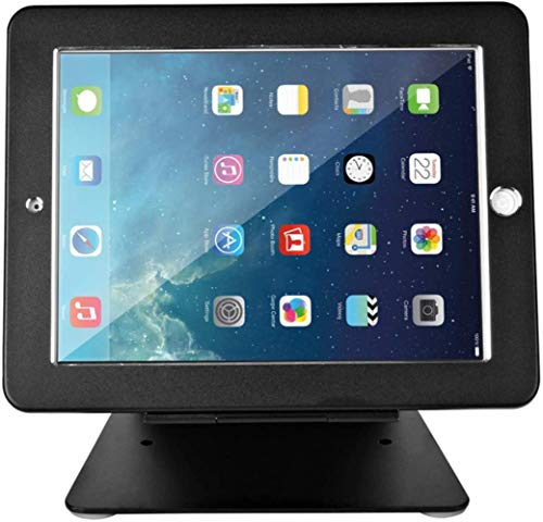 Security Tablet Stand Holder, Desktop Anti-Theft Pos Holder 360° Rotation With Lock And Key For Ipad 2,3,4 Ipad Air/Air 2,Black