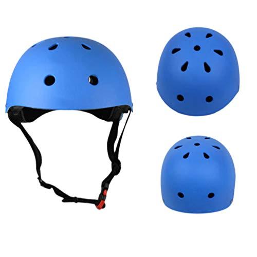 CLISPEED Fahrradhelm MTB Mountainbike Helm Tragbar Sonnenschutzkappe Robust Ultraleicht Radhelm für Erwachsene Herren Frauen Damen Rennrad Skateboard Fahrrad Zubehör Blau