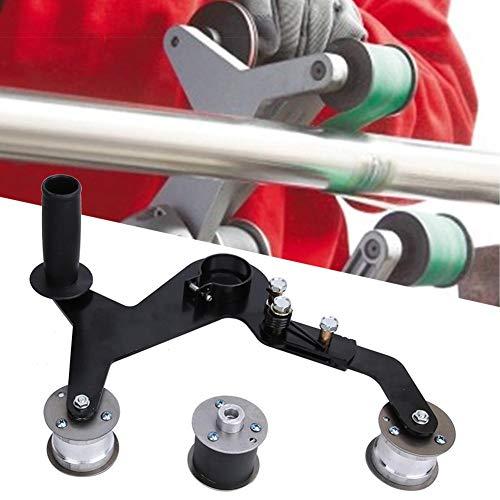 Matrizenschleifer, Poliermaschine, Tragbarer Griff Rundrohr-Bandschleifer Polierer Schleifpoliermaschine für Edelstahl
