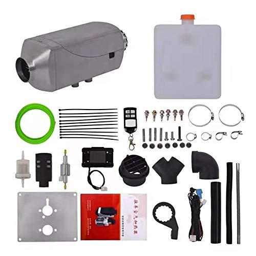 LZHYA Calentador De Estacionamiento Diesel, 5KW 24V, Pantalla LCD, Control Remoto, Accesorios Completos, Calentador De Aire Diésel, Calefacción Estática Furgoneta Diesel Calentador Coche (Silver)