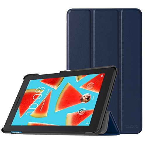 TiMOVO Lenovo Tab E7 Hülle, Ultra Lightweight Slim PU Leder Tasche Schutzhülle Schale Smart Hülle mit magnetischer Abdeckung für Lenovo Tab E7 7