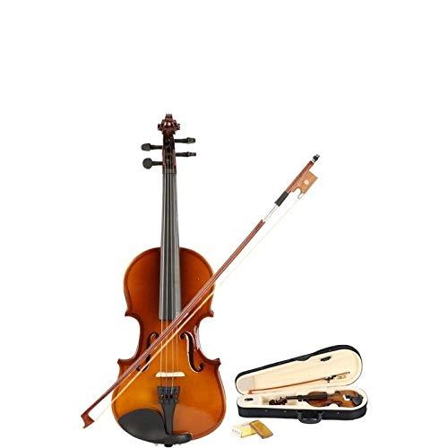 XTQDM Geige 1/8 Natürliche Akustikvioline mit Kofferbogen Kolophonium für Kinder, gelb
