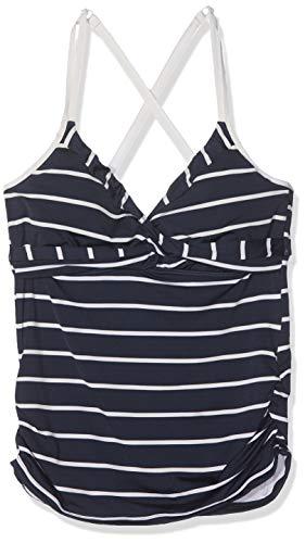 Seafolly Damen Castaway Stripe DD/E Wrap Singlet Tankini, Blau (Indigo), 42 (Herstellergröße:16)
