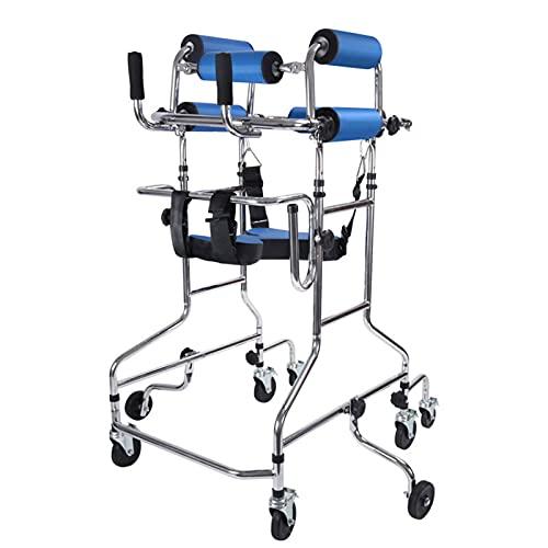 GQFGYYL Andador para Ancianos, Andadores para Ancianos, Andador para Adultos De Altura Regulable Ayuda A Caminar Bipedestador para Entrenamiento Y Rehabilitación De Miembros Inferiores,001