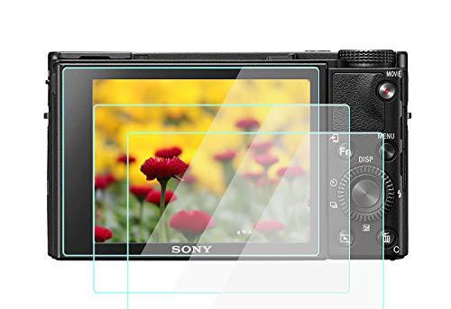 RX100 VII - Protector de pantalla de cristal compatible con Sony RX100M7 RX100M6 RX100V a7R IV a7R III a7R2 A7III A7M2, Komet película de vidrio templado cubierta de pantalla táctil (2 unidades)