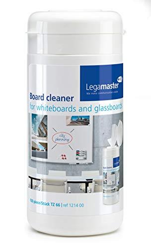 Legamaster 7-121400 Whiteboard-Reinigungstücher TZ66 14 x 20 cm, Spenderbox, weiß