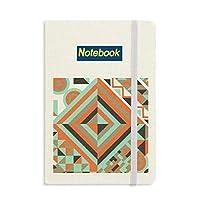緑の菱形の幾何学的パターン ノートブッククラシックジャーナル日記A 5
