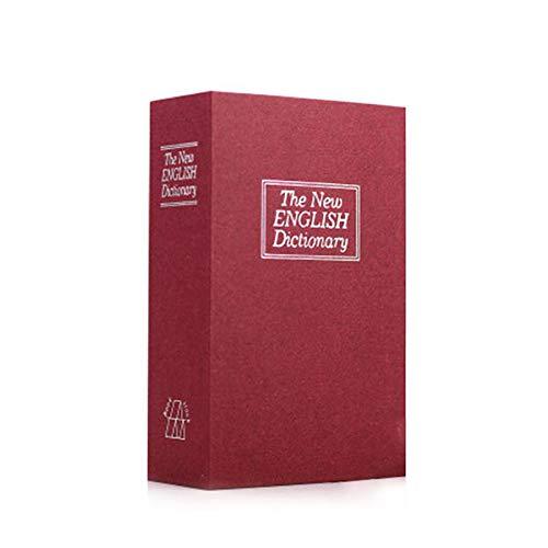 Duomu Caja de efectivo secreta, caja de seguridad en forma de libro con forma de diccionario, puede bloquear bloqueo de combinación utilizado para el pasaporte de joyería de oficina en casa