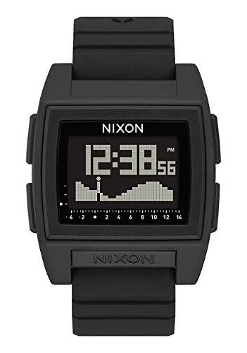 NIXON Base Tide Pro 24mm PU/ゴム/シリコンバンド 30mm フェイス One Size ブラック